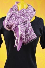 foulard 60x180 cm. 80% coton - 20% soie