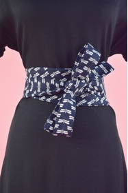 Inspirée des ceintures obi dont les japonaises ceignent leur
