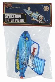 Pistolet à eau spatial en plastique. Largeur: 4 cm Longueur: