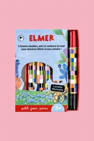 Six Elmer double felt for colorful colored like him. Size: