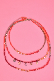 3 necklaces in one. length : 40 cm