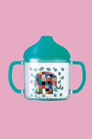 Tasse à bec pour bébé en tritan, antidérapante avec deux