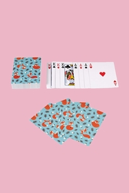 Rusty the Fox playing cards - great for holidays and dinner