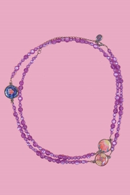Sautoir. zama. resin beads length min. 102 cm. length max.