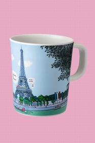 Mug avec les plus beaux monuments de Paris. Taille : 8 x