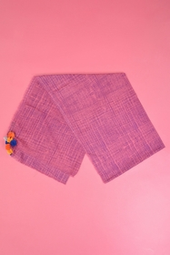 Foulard avec 9 pompons ! 65x180 cm. 100% coton. foulard