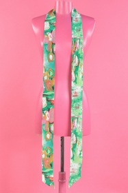 cravate en soie. longueur : 210 cms. 100% soie. tissu en