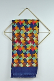 100x200 cm. 100% coton. foulard fabriqué en Inde.