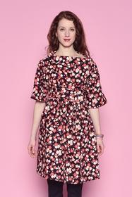Robe large imprimé fleuri, très agréable à porter, avec un