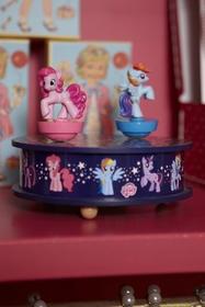 Boîte à musique avec 2 figurines dansantes. Dimensions :
