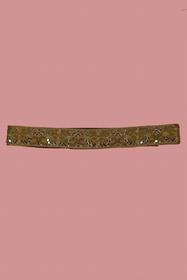 Ceinture de tissu brodé à la main de paillettes , de perles