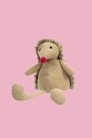 Adhemar the stuffed toy with the small red nose is the