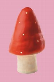 Lampe en forme de champignon. Hauteur : 29 cm