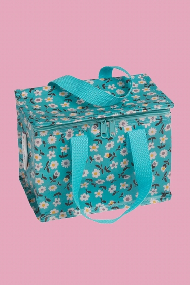 Recycled plastic lunch bag/cool bag with zip closure and