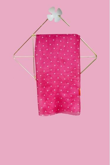 Dots scarf, 100% silk, size 180x47 cm.