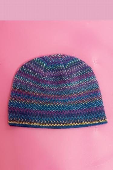 Bonnet doux et coloré.<br><br> Pour un total look coloré et