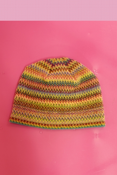 Soft and colorful hat.<br><br> For a total colorful look and