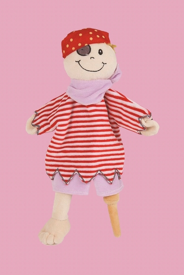 The plush puppet allows children to develop their