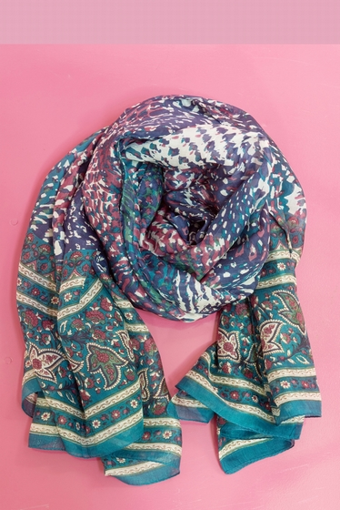 Silk stole. <br> <br> To wear around the neck, in the hair,