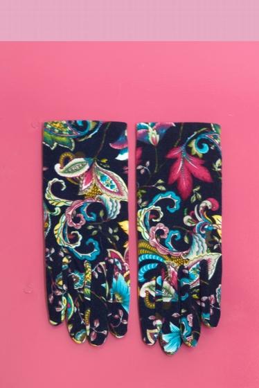 Dans un style aussi chic que romantique, ces gants à motifs