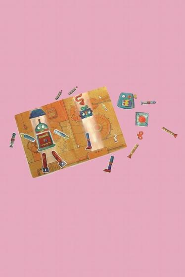 Un petit jeu en livre magnétique qui leur permet d'imaginer