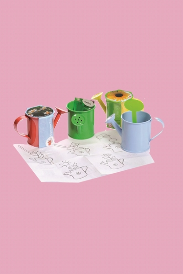 Minis watering-cans, red, blue, greens or yellow are