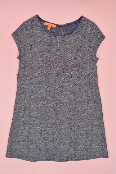 Robe manches courtes en coton imprimé provenant du Japon.