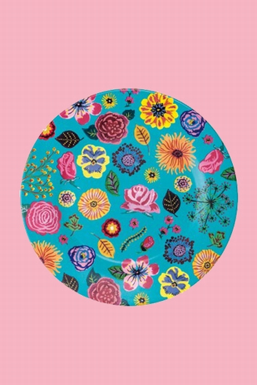Pretty melamine plates for gourmet meals. <br> Illustrations