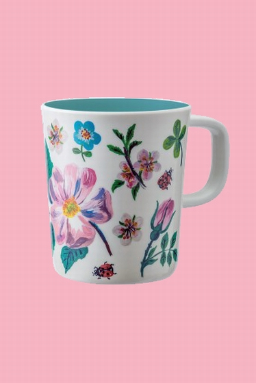 Adorable colorful melanine mug. Perfect for small hands and