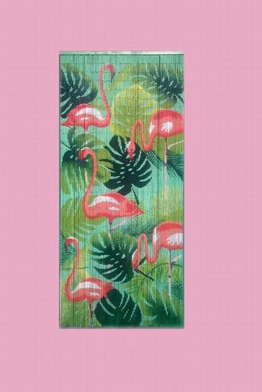 Rideau en bambou.<br><br> Dimensions : 90 x 200 cm