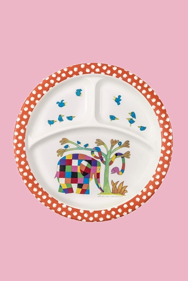 Three compartments plate in melanin for children. Size :