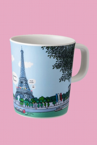 Mug with the most beautiful monuments of Paris to travel as