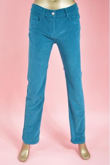 pantalon en velours 5 poches, confortable coupe droite.