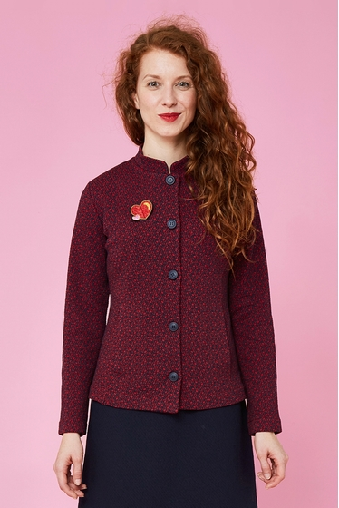 Pretty jacket with fantasy patterns and of chinese