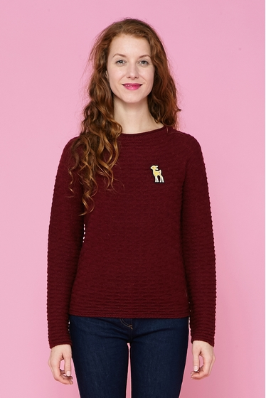 Pull en maille.<br> Col rond.<br> Manches longues.<br><br>