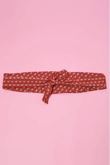 Obi belt in japanese pattern. <br> Traditional Japanese