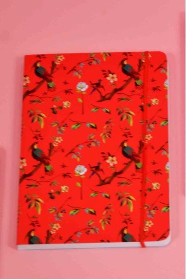 Petit cahier format A5, joliment décoré de motifs colorés,