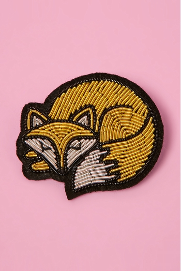 Hand embroidered brooch. <br>The hand embroidered new