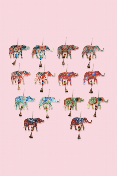 Nice little patterned elephant delicately painted with a