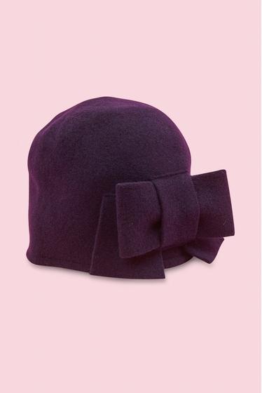 Wool bow hat. 100% Wool. Medium size (56 cm). Made in Czech