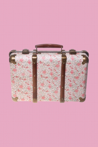 This vintage-style suitcase is as pretty as it is practical.