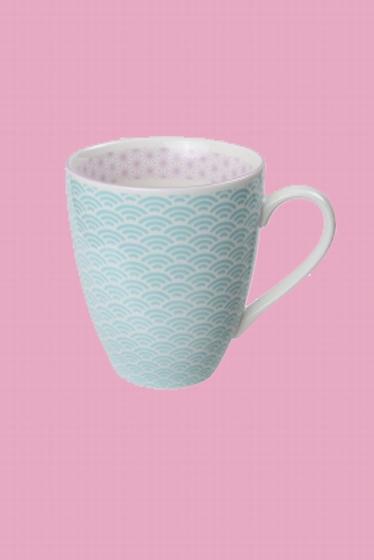 Mug en porcelaine fabriqué au Japon. Frais et lumineux,
