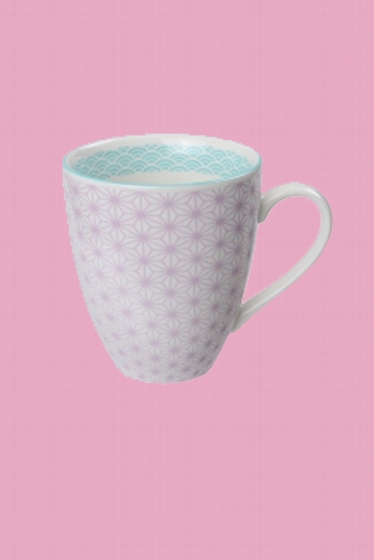 Porcelain mug made in Japan.<br> Fresh and bright, our Asian