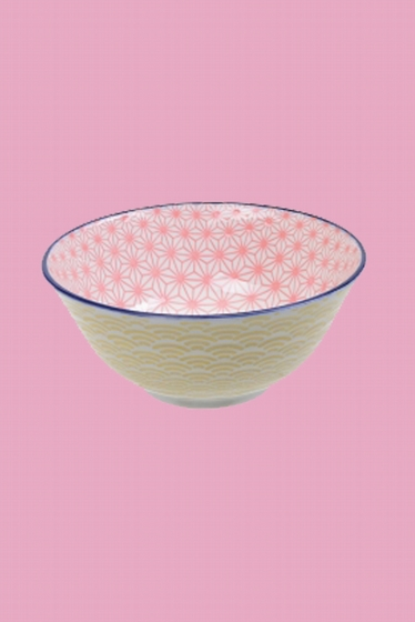 15.2 x 6.7 cm. bol bicolore en porcelaine. fabriqué au Japon