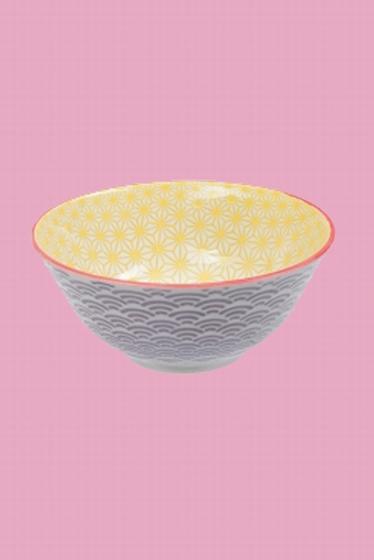 Bol multicolore en porcelaine fabriqué au Japon.<br> Frais