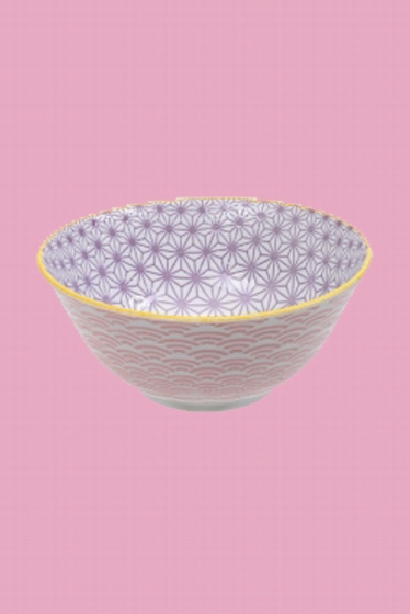 Multicolors bowl made in Japan. Fresh and bright, our Asian