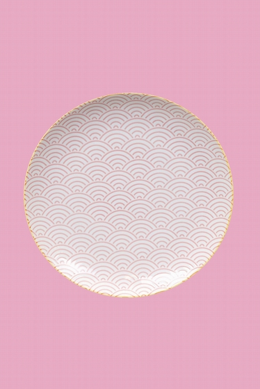 Porcelain plate made in Japan. Fresh and bright, our Asian