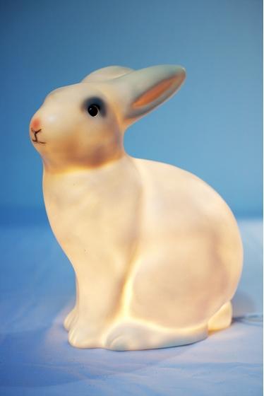 Lampe lapin. Hauteur : 27 cm