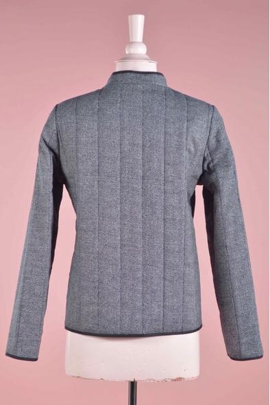Veste réversible en coton matelassée. poches. fermeture par