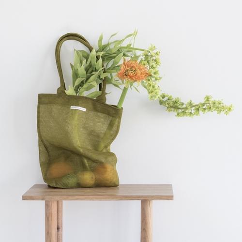 Sac Shopping kaki. Ce sac shopping en plastique recyclé,
